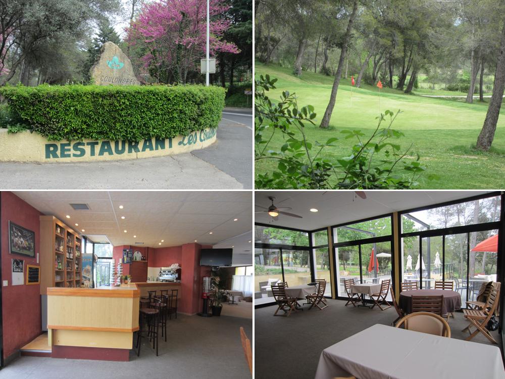 Quatre photos du site du café psycho : le restaurant du golf