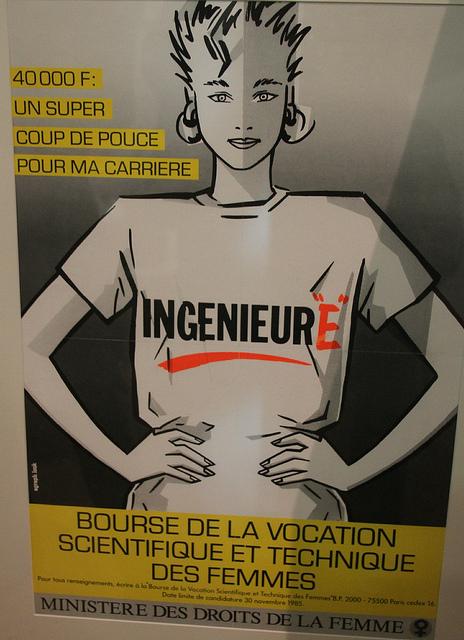 Affiche Ingénieure 1985.