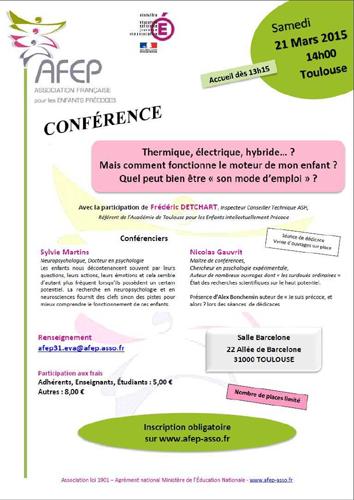 Affiche de la conférence AFEP (21 mars 2015).