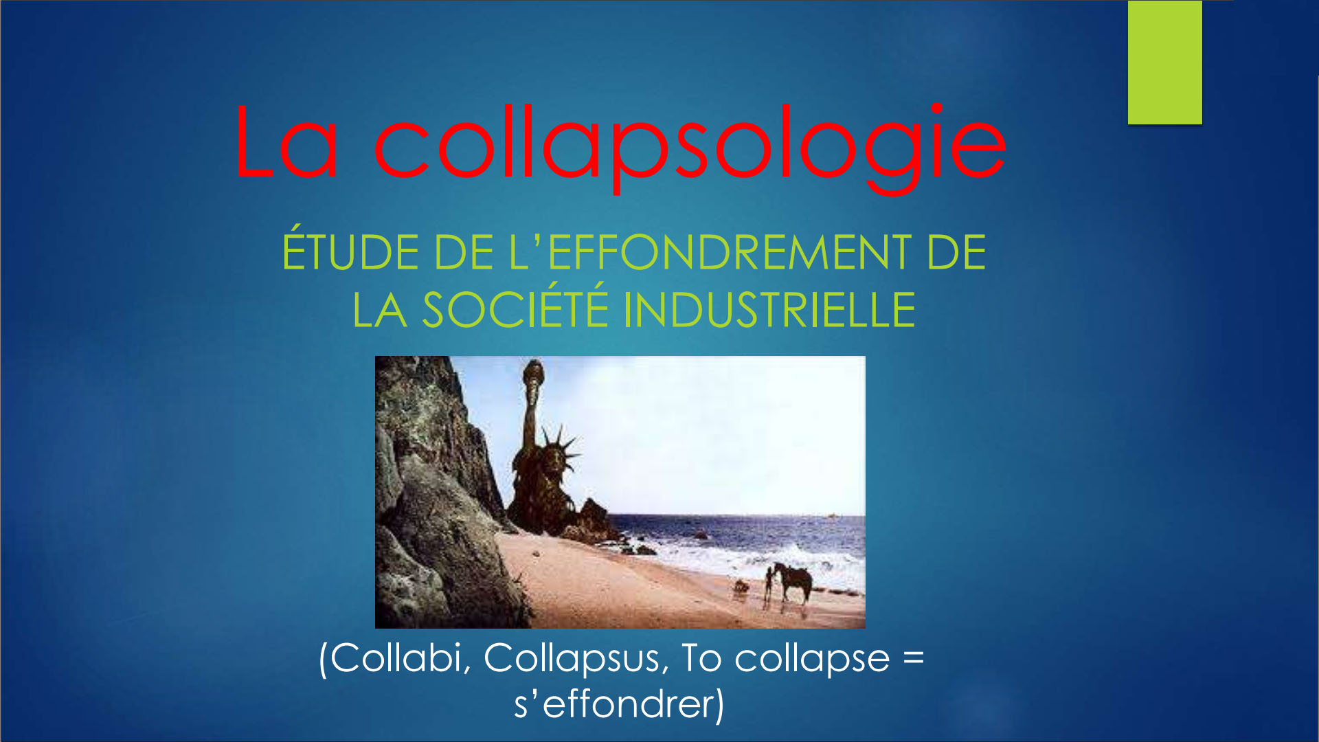Photo sur la collapsologie.