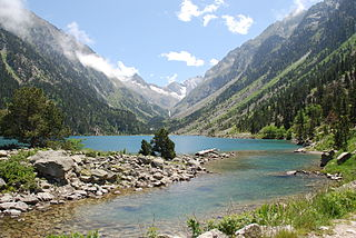 Lake Gaube in the Pyrenees.