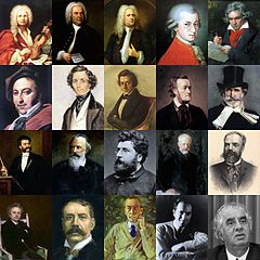 Classical music composers montage.