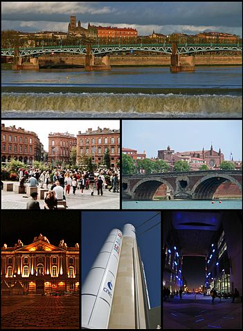 Photo montage of Toulouse.