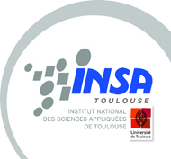 Logo of the INSA school at Toulouse.