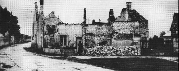Maille ruins after the massacre on the 25th of August in 1944.